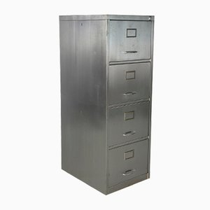 Vintage Polished Steel Filing Cabinet, 1960s