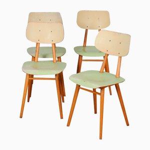 Vintage Holzstühle von Ton, 1960er, Set of 4