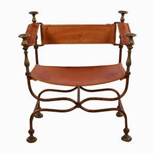 Italian Iron Savonarola Dante Chair, 1940