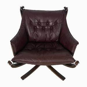 Vintage Brown Winged Falcon Chair by Sigurd Resell for Vatne Møbler