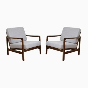 Mid-Century Lounge Chairs by Z. Bączyk, 1960s, Set of 2