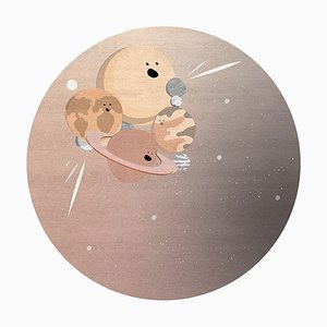 Runder IV Planets Teppich von Covet Paris