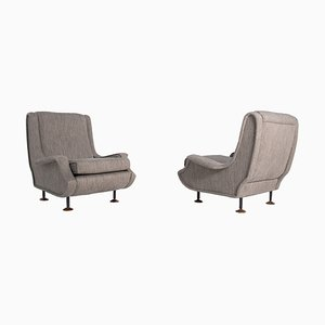 Mid-Century Model Lady Armchairs by Marco Zanuso for Arflex, Italy, 1951, Set of 2