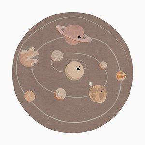 Runder Sonnensystem Teppich von Covet Paris