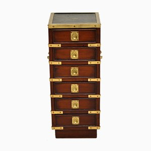 Miniature Antique Military Campaign Style Chest of Drawers