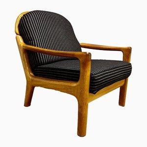 Scandinavian Black Lounge Chair, 1960s
