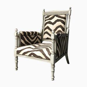 Bergére Armchair with Ralph Lauren Zebra