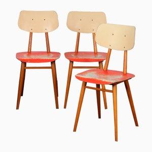 Beistellstühle von Ton, 1960er, 3er Set