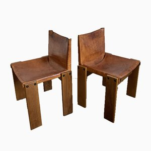 Monk Chairs by Tobia Scarpa for Molteni, Set of 4