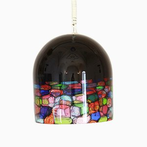 Vintage Murano Glas Deckenlampe von Noti Massari für Leucos, 1970er