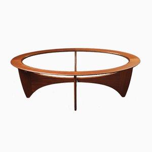Tavolino da caffè ovale Mid-Century in teak e vetro di Victor Wilkins per G-Plan, anni '60