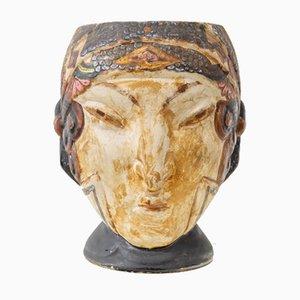 Französische Art Deco Keramik Vase, 1920er