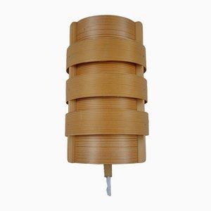 Schwedische Holz Wandlampe von Hans Agne Jakobsson