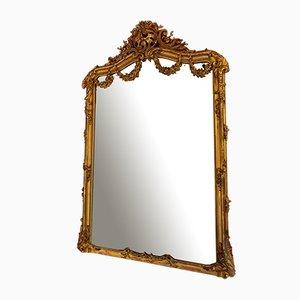 Specchio in stile Luigi XV in legno dorato, XVIII secolo