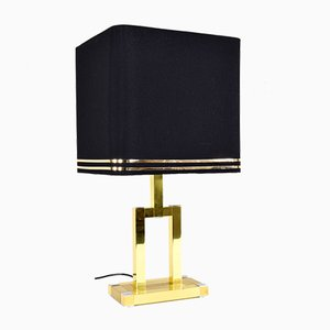 Spanish Golden Table Lamp from BD Lumica, 1970s