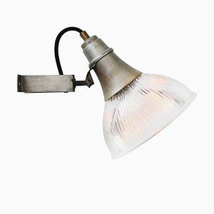 Lampada da parete vintage industriale in vetro e metallo