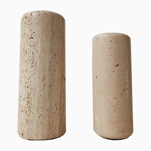 Italienische Mid-Century Vase aus Travertin