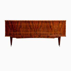 Französisches Art Deco Sideboard oder Nussholz Anrichte