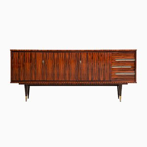 French Art Deco Sideboard with Bar Cabinet