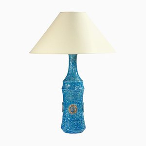Blue and Gold Ceramic Table Lamp from Bitossi, 1960s