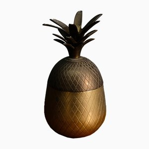 Hollywood Regency Brass Pineapple Box, 1970