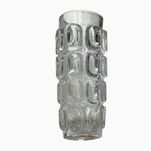 Vintage Brutalist Glass Vase from Sklo Union, 1960s
