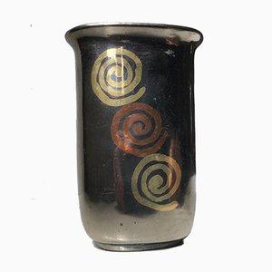 Art Deco Dinanderie Vase, 1930s