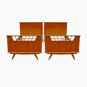 Vintage Oak Twin Beds, 1990s, Set of 2