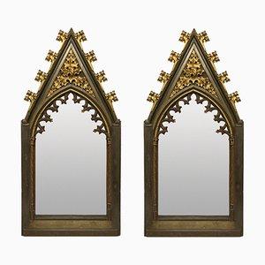 Große Gotische Spiegel aus frühem 19. Jh., 2er Set