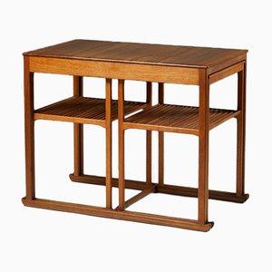 Släden Nesting Tables by Carl Malmsten for Åfors Furniture Factory, Sweden, 1950s