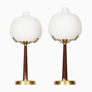 Modell 700 Tischlampen von Hans Bergström für Ateljé Lyktan, Ahus, Schweden, 2er Set