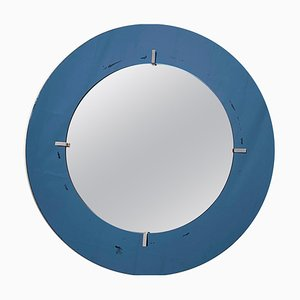 Round Wall Mirror from Cristal Art, Italy, 1960s