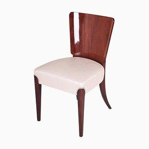 Restored Czech Art Deco Mahogany Chair by Jindrich Halabala, 1940s