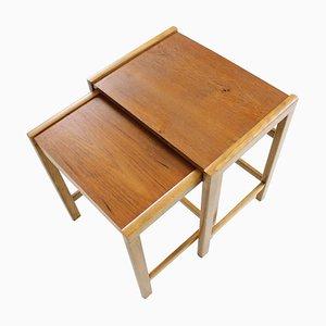 Vintage Scandinavian Teak Nesting Table Set, 1960s