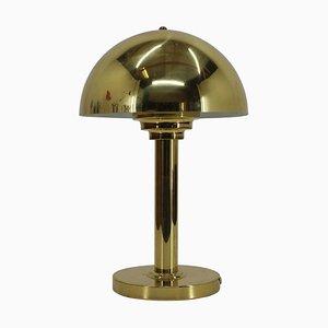 Goldene Vintage Lampe, Tschechoslowakei, 1980er