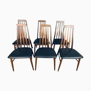 Teak Eva Dining Chairs by Niels Koefoed for Koefoed Hornslet, Set of 6