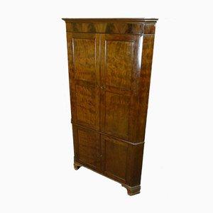 English Mahogany Corner Cabinet
