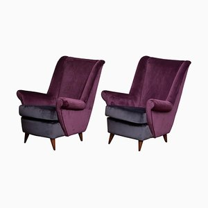 Lounge Chairs by Gio Ponti for ISA Bergamo, Italy, 1950s, Set of 2