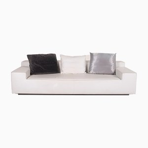 White Leather 3-Seater Who's Perfect Sofa