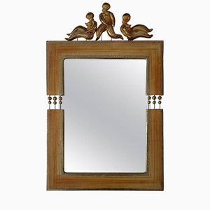 Espejo francés de cerámica de Georges Pelletier, 1960