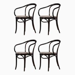B9 Esszimmerstühle von Thonet, Frankreich, 1970er, 4er Set