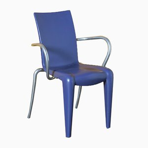 Louis 20 Chair in Purple with Armrests by Philippe Starck for Vitra