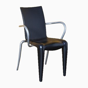 Louis 20 Chair in Black with Armrests by Philippe Starck for Vitra