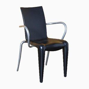 Louis 20 Stuhl in Schwarz mit Armlehnen von Philippe Starck für Vitra