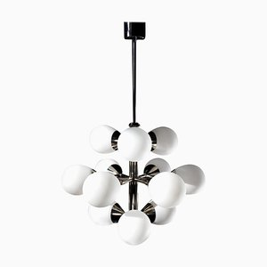 Sculptural Chandelier with 12 Lights from Kaiser, Germany, 1970s