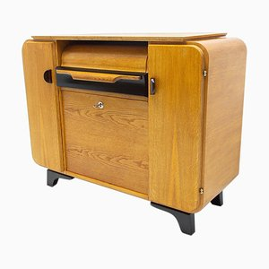 Mid-Century Cabinet with Built-in Gramophone by Jindřich Halabala for UP Závody