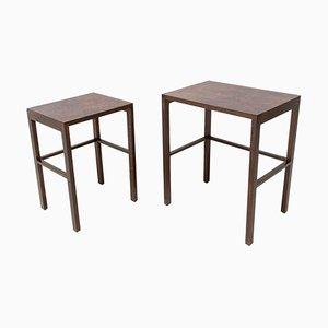 Modernist H-50 Nesting Tables by Jindrich Halabala, Set of 2