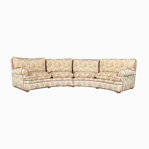Large Italian Modernist Curved Sofa, 1950s