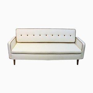 Sofa oder Tagesbett in weißer Wolle von Ire Möbler, Schweden, 1950er