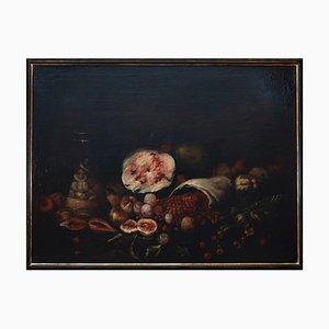 Unknown, Stillleben mit Früchten, Ölfarbe auf Leinwand, 17. Jahrhundert